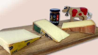 Raw Milk Cheese Pack: Rolf Beeler Gruyère, Bleiki Alp, Hornkuhkaese (f.l.t.r.)