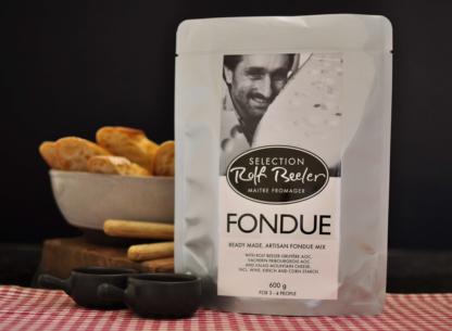 Moitie moitie style Swiss cheese fondue by Rolf Beeler
