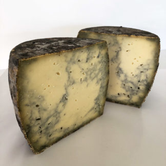 Unpasteurised raw milk cheese Cinderella with active carbon black Cyprus sea salt