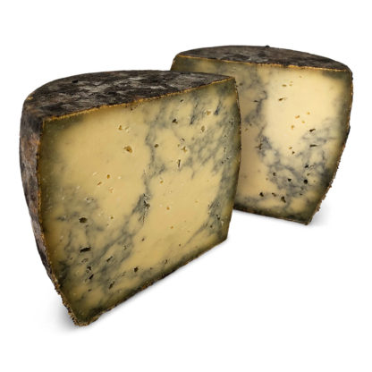 Raw milk Swiss cheese with active carbon