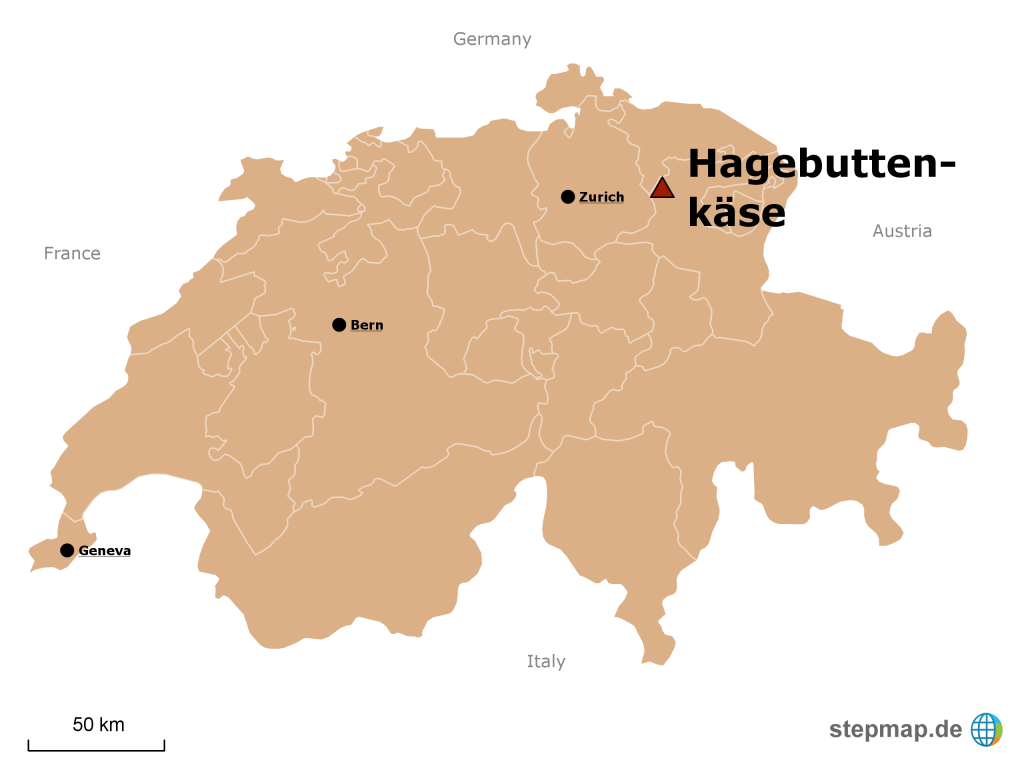 Hagebuttenkäse is made in the Swiss Toggenburg
