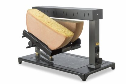 Raclette machine for 2 half wheel raclette