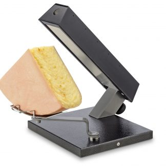 Raclette melter for quarter 1/4 wheels