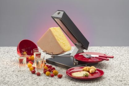 Made in Switzerland raclette machine from TTM for 1/4 wheels